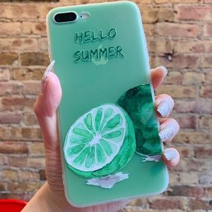 Summer Green Fresh Soft Silicone Clear Phone Case